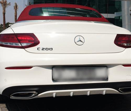 Mercedes C200 Convertible Hire in Dubai