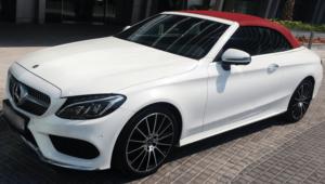 Rent Mercedes C200 Convertible in Dubai