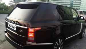 Rent Range Rover Vogue in Black Color