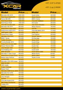 X-Car-Rental-Dubai-Price-List