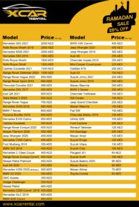 X Car Rental Ramadan Discount New