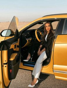 Celebrity Driving Urus from X Car Rental